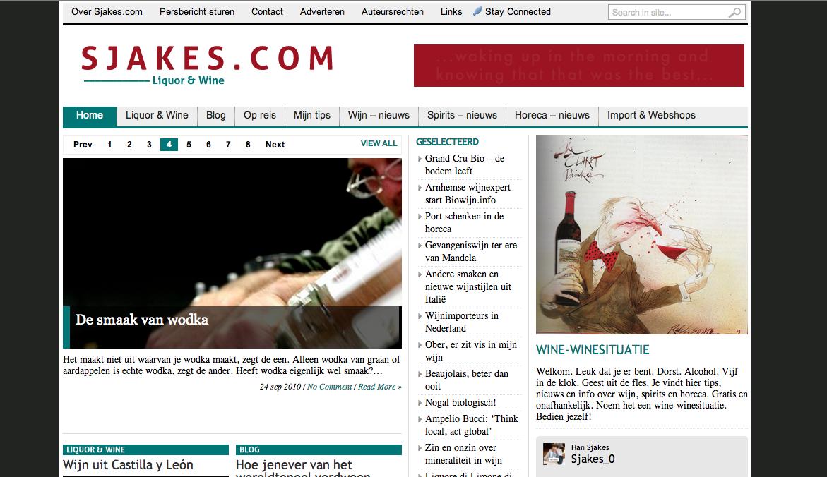 Sjakes WordPress website