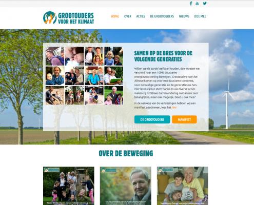 WordPress website Grootouder voor het klimaat