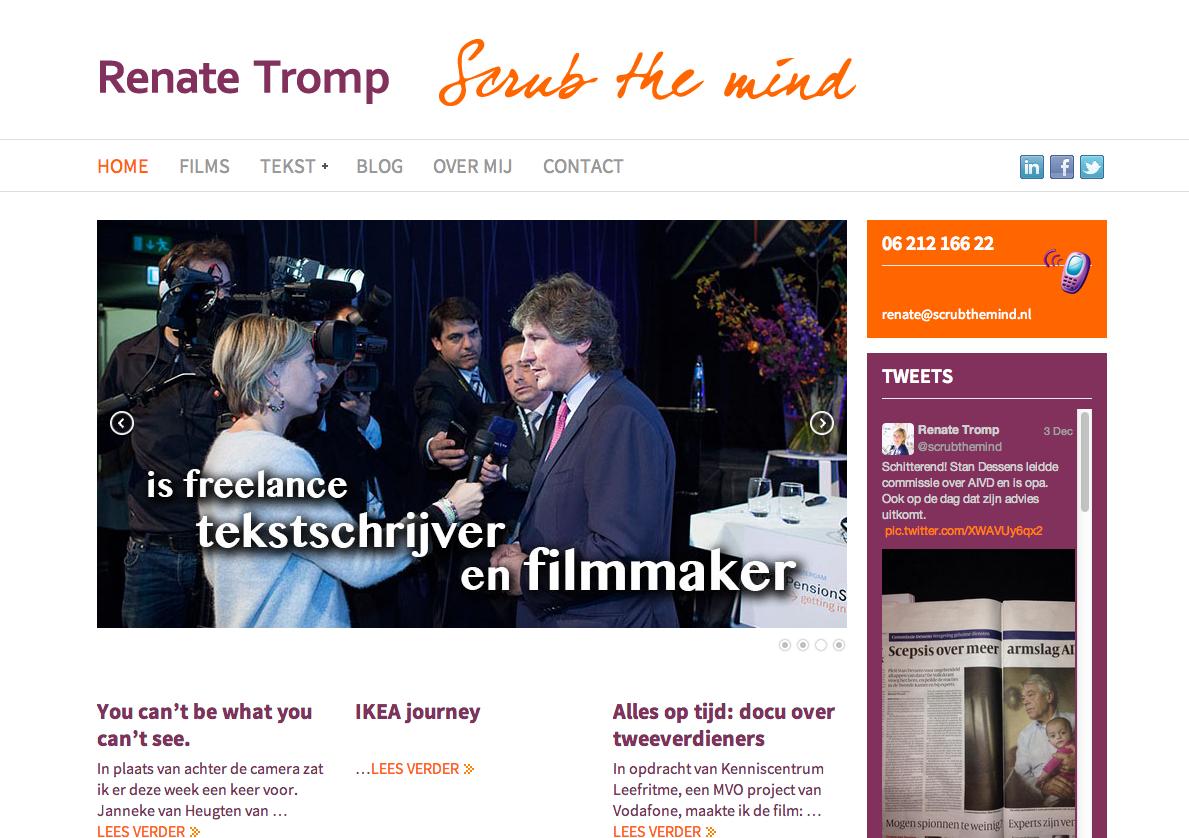 Renate tromp ontwerp ontwikkeling WordPress website