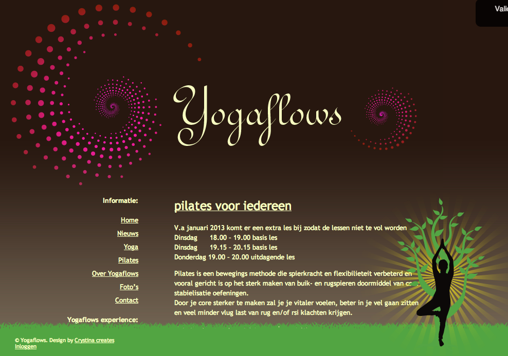 WordPress website Yogaflows