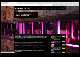 Het Koelhuis wordpress website