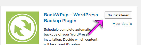 installeer en activeer plugin in WordPress